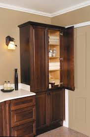 Bathroom Furniture Wood Furniture Endearing Corner Linen Cabinet Designs For Bathroom