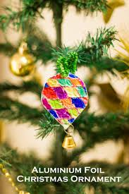 easy tin foil christmas tree ornaments make and takes