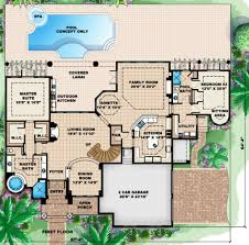 Mediterranean House Plans With Pool Mediterranean Style House Plan 5 Beds 5 00 Baths 4428 Sq Ft Plan