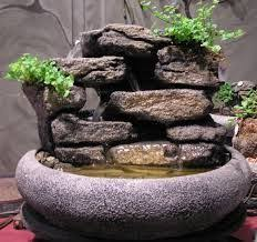 table top water fall this live bonsai tabletop fountain features natural cascading