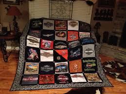 harley davidson quilt made out of t shirts orlandharley harley