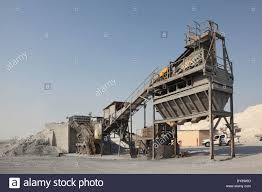 a stone crushing and grading machine operating in metals waste