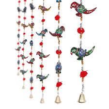 buy jaipuri haat parrot mirror work door hanging metal tapestry