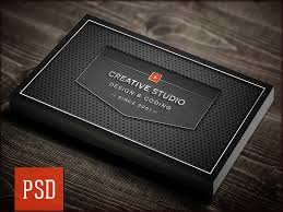 Studio Visiting Card Design Psd Creative Studio Carbon Business Card Psd Template By Digital Space