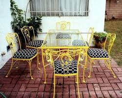 Folding Patio Furniture Set by Patio Wrought Iron Patio Tables Sale Belcourt 4 Piece Metal