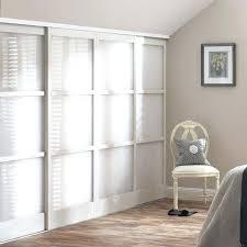 Sliding Glass Closet Door Closet Doors Sliding Mirrored Closet Doors With Wood Inlay Glass