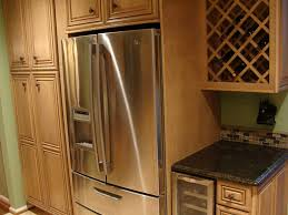 wine rack cabinet over refrigerator beautiful brown color kitchen wine rack cabinet diagonal shape wall