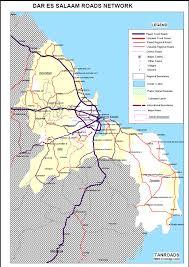 map of roads tanroads pdf overview map of roads in dar es salaam tanzania gis