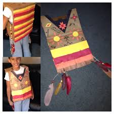 native american paper bag vest for thanksgiving celebration at