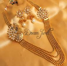 beautiful necklace online images Buy beautiful antique pearl peacock multi layer necklace set online JPG