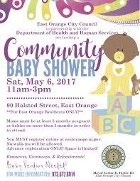 east orange community baby shower east orange orange nj news