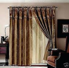 Priscilla Curtains With Attached Valance Sheer Priscilla Curtains With Attached Valance Waterlily Floral
