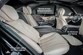 mercedes s class rear seats mercedes revs the s class to lure china s wealthy buyers