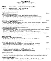 Resume Samples For Teaching Job by Teach For America Resume Sample Http Exampleresumecv Org Teach