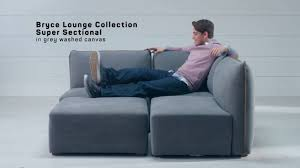 Pottery Barn Teen Couch Sit Stay Bryce Lounge Sectional Collection Pbteen Youtube
