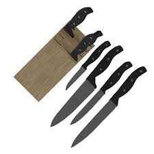 set of kitchen knives kitchen knives with wooden stand by francescomilanese 3docean