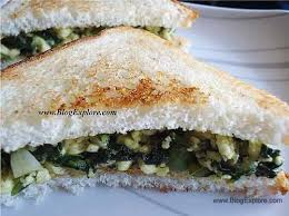 Cottage Cheese Recipes Healthy paneer spinach sandwich spinach cottage cheese sandwich indian