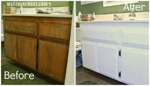 how to paint bathroom cabinets white chic painted bathroom cabinet clever nest diy repainting bathroom