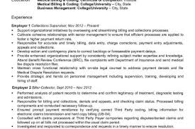 Medical Billing Resume Examples by Medical Billing Specialist Resume Sample Sample Resumes For