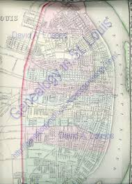 New Orleans Ward Map by Genealogy In St Louis