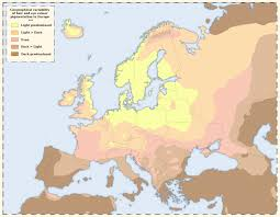 hair and eye colour pigmentation map of europe 3664 2850