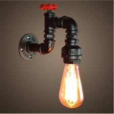 discount wall lights pipe 2017 vintage water pipe wall lights on