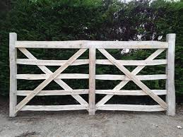 chestnut wood country fences rustic style lands end