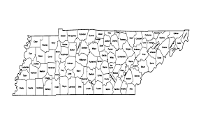 Counties In Tennessee Map by Genealogy