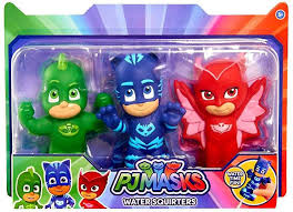 disney junior pj masks gekko catboy owlette bath toy 3 pack water