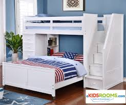 Multifunction Loft Bed In White Allen House Kids Loft Beds And - White bunk beds twin over full with stairs