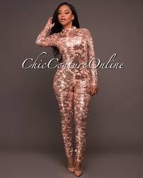 sleeve sequin jumpsuit ferrera gold floral sequins sleeves jumpsuit