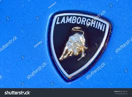 lamborghini badge montreal canada june 08 2015 automobili stock photo 286106120