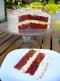 red velvet white chocolate cheesecake layer cake w cream cheese