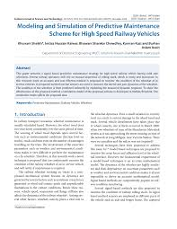modeling and simulation of predictive maintenance scheme for high