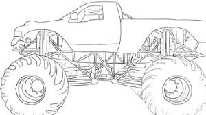 offroad monster coloring road car coloring pages