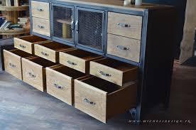 buffet meuble cuisine meuble cuisine en metal great free armoire en fer design with