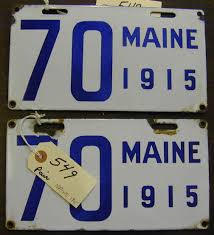 Maine State Vanity Plates Hap Moore Antiques Auction April 29 2006