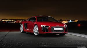 Audi R8 Red - 2016 audi r8 v10 plus coupe uk spec red front hd wallpaper 39