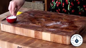 Boos Cutting Boards How To Clean A Wooden Cutting Board With Lemon And Salt Youtube