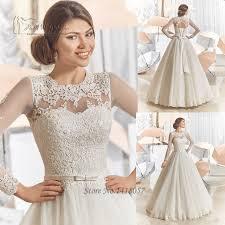 aliexpress com buy vintage long sleeve lace wedding dresses