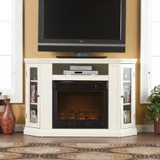 antique white electric fireplace tv stand home design ideas