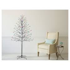 philips 6ft pre lit led artificial tree birch cool white