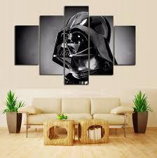 star wars living room 5 panel movie poster star wars home decor for living room wall art