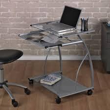 Computer Glass Desks For Home Mini Desk Rolling Workstation Desk Small Black Computer Desk Small