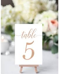 gold wedding table numbers spring savings on rose gold table numbers rose gold wedding table