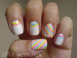 nail polish designs for very short nails splendid colorful dots