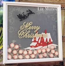 liz u0027s paper loft everyday cricut day 5 christmas shadow box