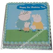 peppa pig birthday peppa pig birthday cake at inr 1099 free home delivery