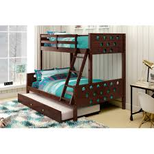 Donco Kids Twin Over Full Bunk Bed With Trundle  Reviews Wayfair - Donco bunk beds
