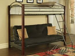 Wood And Metal Bunk Beds Latitudebrowser - Wood bunk bed with futon